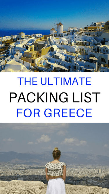 Not sure what to pack for Greece? Click through for the ultimate packing list for #Greece & the Greek Islands including what to wear and other travel essentials. ********* Greece Travel Packing Tips | Greece Packing List Ideas | Greece Packing List Products | Greece Packing List Summer | Greece Packing List Spring | Greece Packing List Vacations | Greece Packing List Capsule Wardrobe | Greece Santorini Outfits | Packing List European | Packing List for Europe | Packing List Greece Travel Light