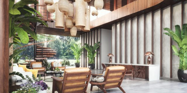 lobby Amber Kampot resort