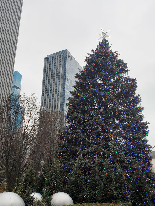 Christmas Tree at Millennium Park in Chicago