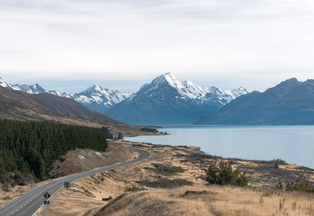 scenic view of mountains in New Zealand