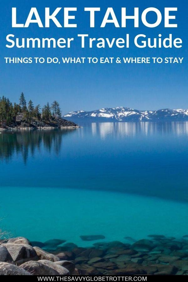 South Lake Tahoe Summer Itinerary