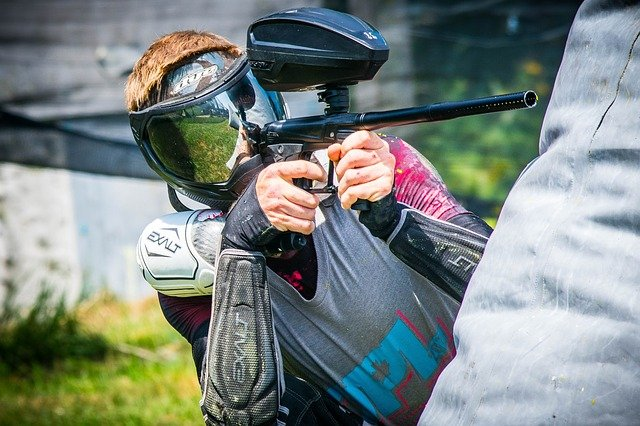 personal playing paintball