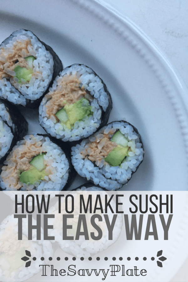 Simple Sushi (You can do this!) – Have you ever wanted to make sushi at home but couldn't bring yourself to face the challenge. This easy sushi recipe skips the raw fish and gives plenty of directions and photos to help you make your first sushi rolls!