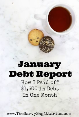 How this single, 22 year old paid off $1,500 in debt in ONE month and how she plans to keep it up this year!