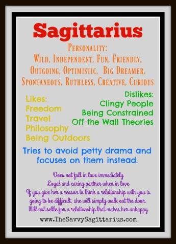 """When I first chose the name """"The Savvy Sagittarius"""" for my blog, I just thought it was playful and cute. I wasn't that deep into my horoscope, but I was beginning to learn."""