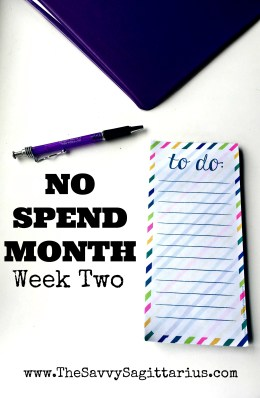 It has been 18 days of not spending money! Check out how I am doing on week two of my no spend challenge and see how I slipped up a little bit!