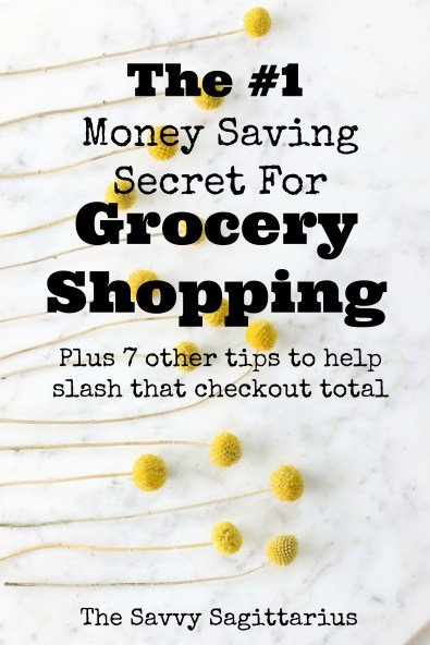Are you constantly going to the grocery store, dropping a ton of money, and wondering where it went! This is the grocery shopping secret that will save you tons of money on your budget!