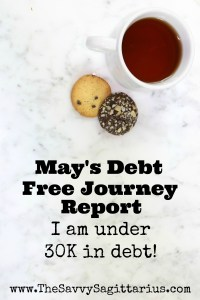 After my no spend month in April, I kind of fell off the wagon, but I still came out way on top. Check out how my debt free journey is coming along...