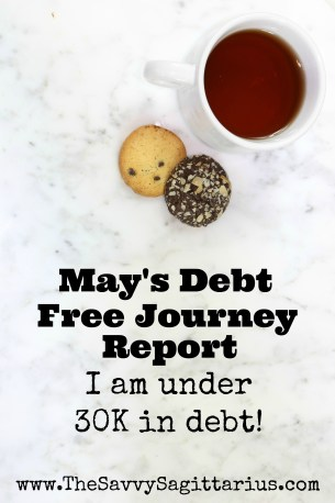 After my no spend month in April, I kind of fell off the wagon, but I still came out way on top in May. Check out how my debt free journey is coming along...