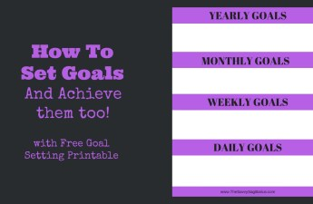 Have you ever set a goal and a few days into working on it, you completely forget about it. Here is my number one way of setting goals and achieving them too!!