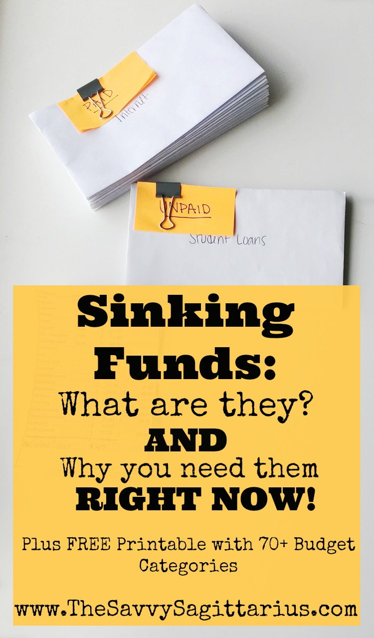 Sinking funds is a term that can be a little confusing. Here is a complete guide to making sure you know what you are doing and help you really get your budget together!