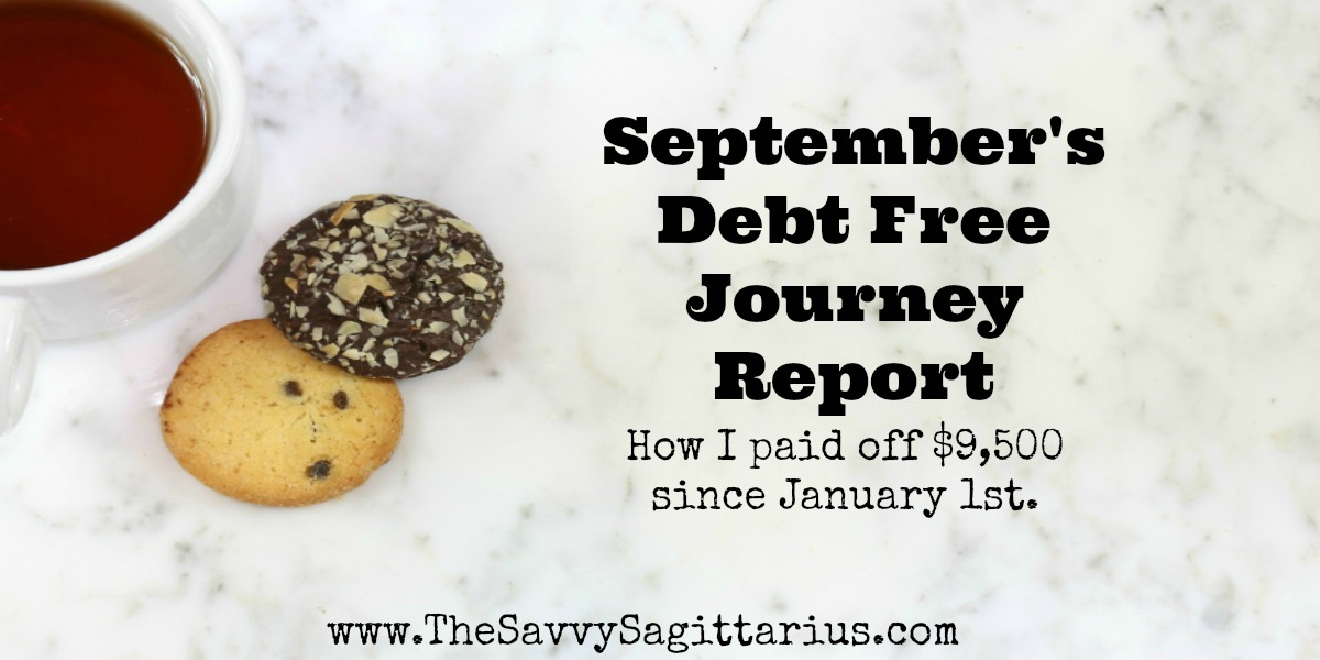 I know October is going to be a great month of paying debts off. This month I will pay off my smallest student loan! Find out how September went!