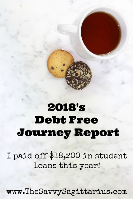 2018 was an amazing year for me! I put $18,200 towards my student loans and I will be debt free a few months into 2019!