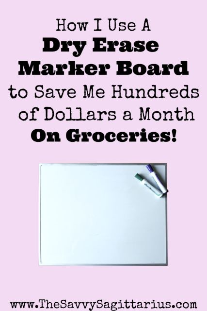 Groceries is the number one easiest category to go over budget on! Here is how I use a marker board for my meal planning to save me hundreds of dollars on groceries every month!