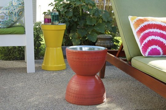 Flower Pot Table DIY