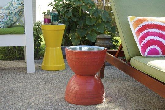 Flower Pot Table DIY