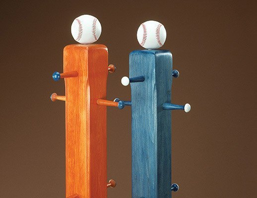 baseball coat rack
