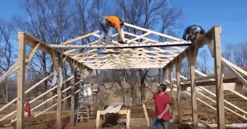 Diy pole house construction