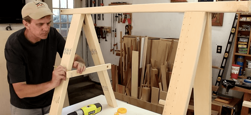 build a folding sawhorse