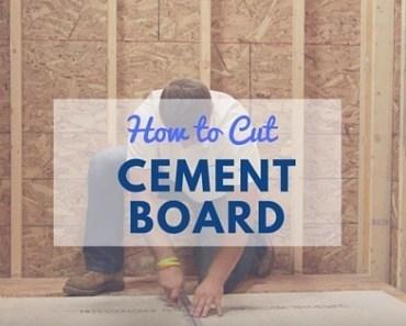 How To Cut Hardie Backer Board