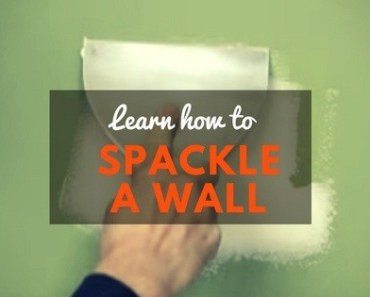 How to spackle a wall