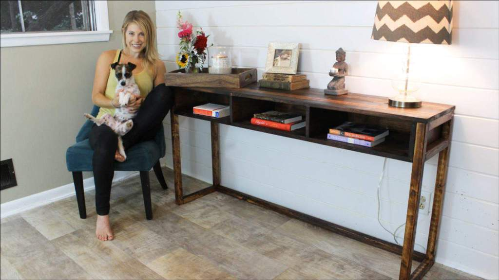 build a rustic sofa table crate and barrel davis sleeper how to your own diy console for 30