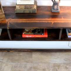 Build A Rustic Sofa Table Blue Microfiber Recliner How To Your Own Diy Console For 30