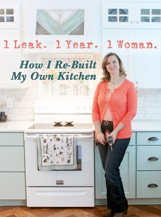 how I rebuilt my kitchen
