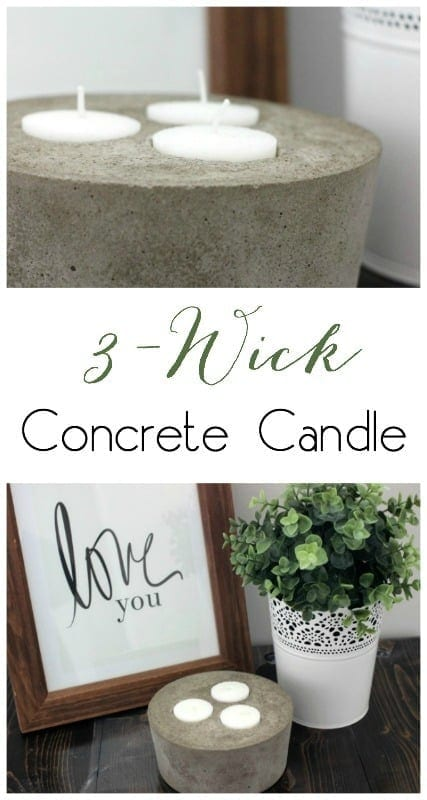 Industrial Style Concrete Candles