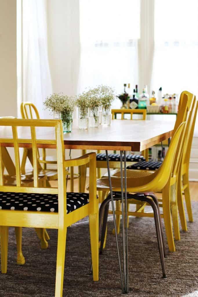DIY Hairpin Leg Dining Table