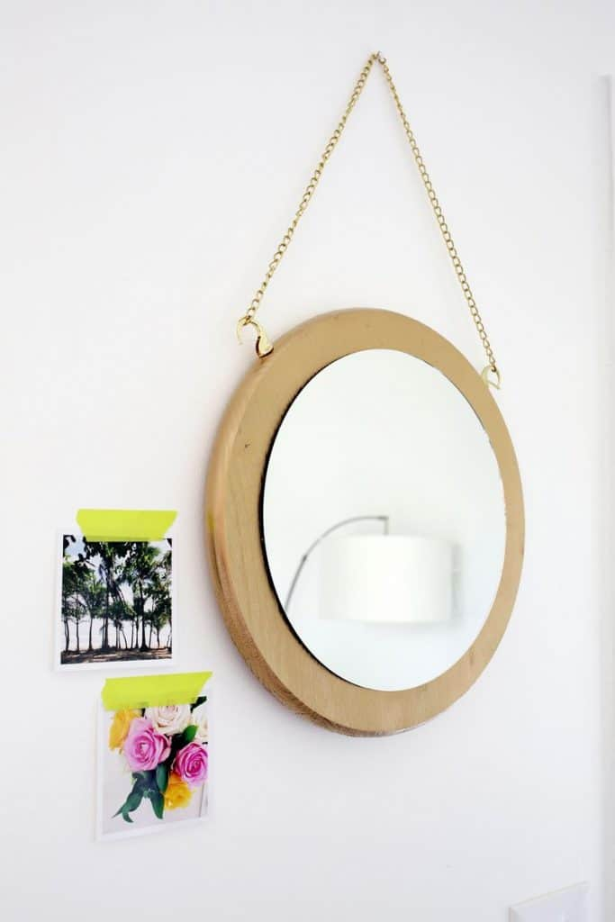 DIY Circle Chain Mirror