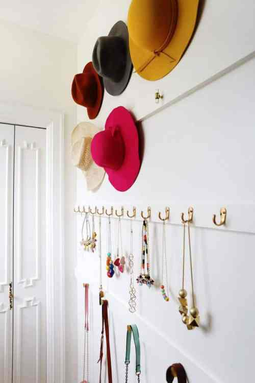 Organize Your Hats And Jewelry With This DIY Project