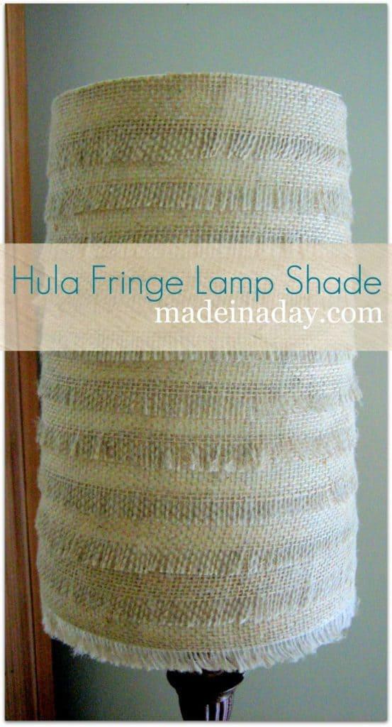 Hulu Inspired Burlap Lamp