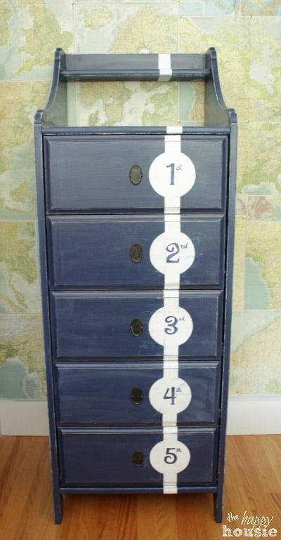 Distressed Nautical Style Dresser