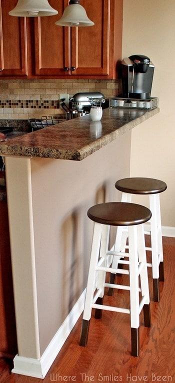 DIY Bronze Barstools
