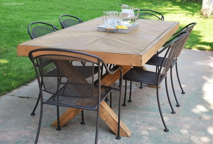 Herringbone Designed Dining Table