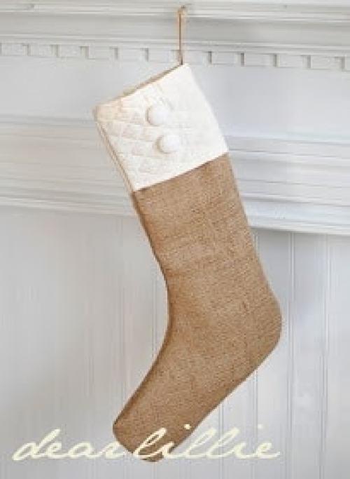 Burlap Stockings DIY