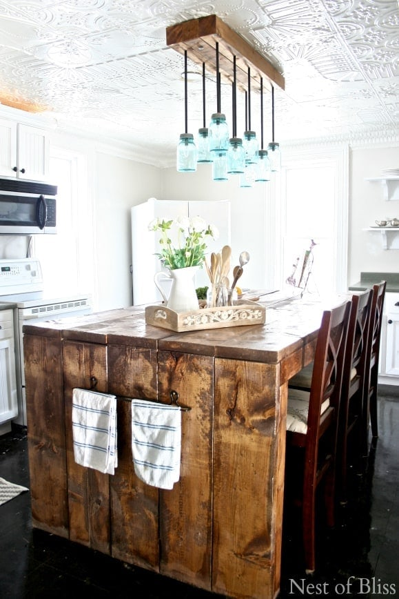 Rustic Farmhouse Mason Jar Chandelier