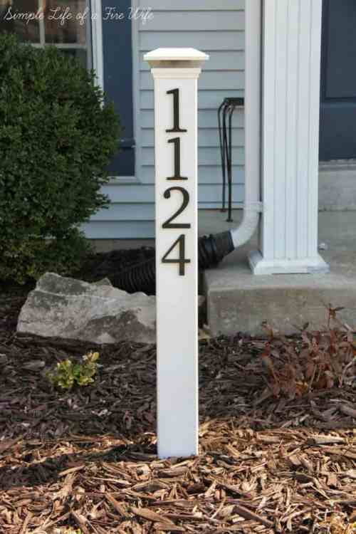 DIY Address Post