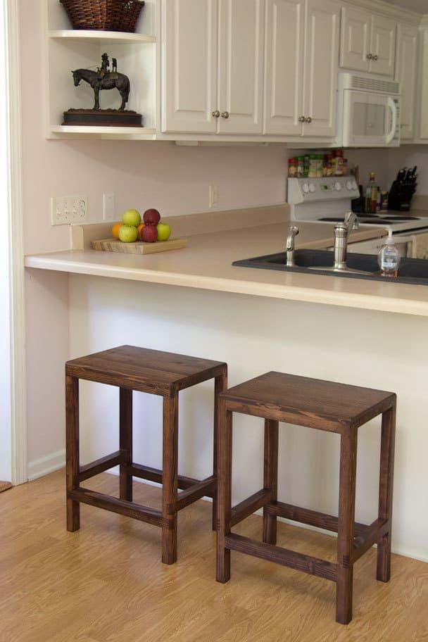 Gorgeous DIY Barstools