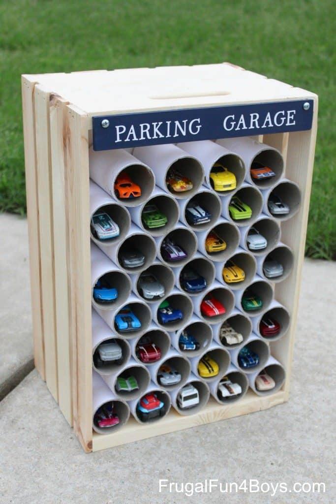 Wooden Crate Car Storage
