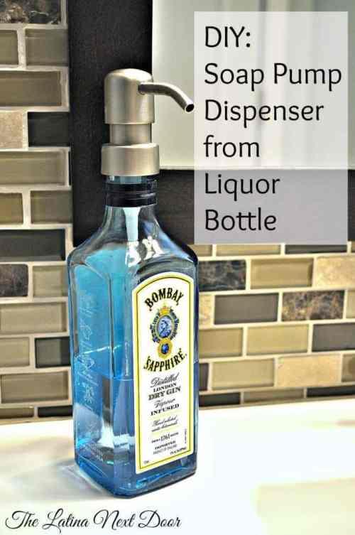 Repurposed Liquor Bottle Dispenser