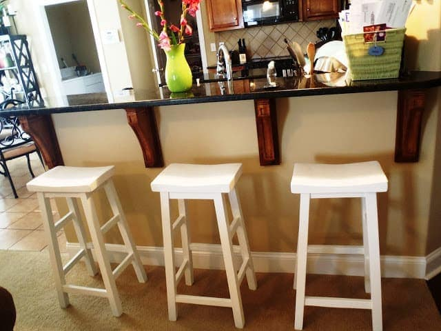 Homemade Barstools With Curvy Top