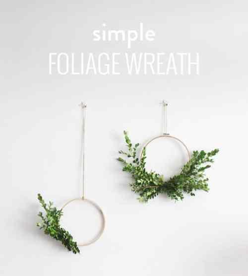 DIY Wall Wreath With Foliage