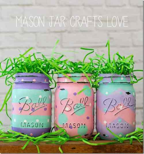 DIY Easter Themed Mason Jars