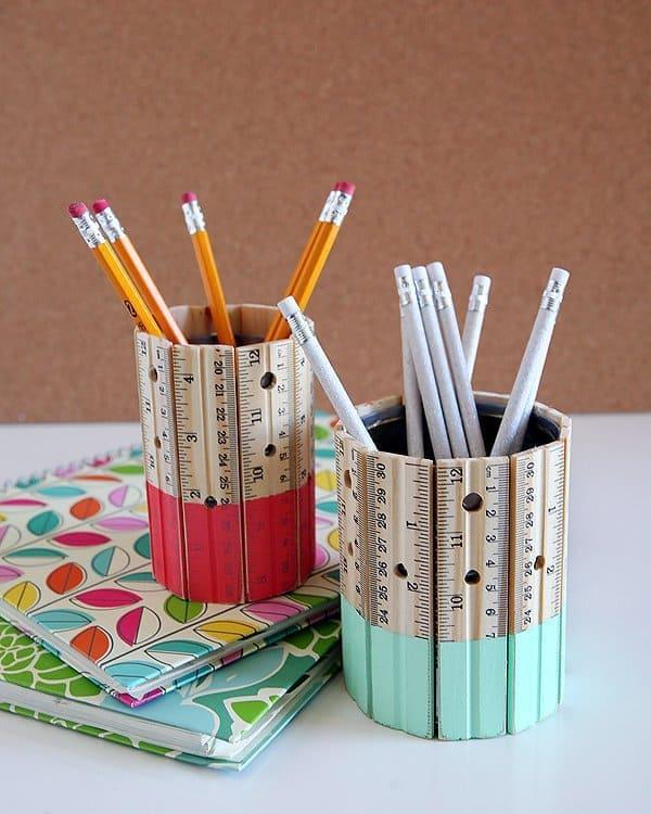 Colorful Ruler Pencil Holder Teachers Gift