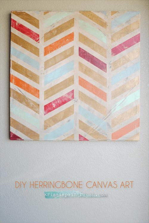 Make Your Own Herringbone Art