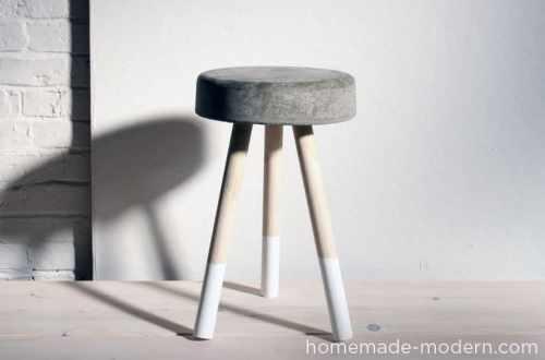 Homemade Concrete Bucket Stool
