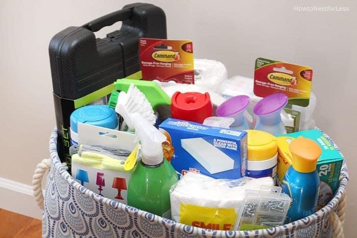 Useful Housewarming Gift Basket