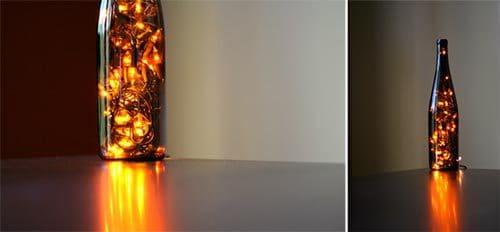 Repurposed Wine Bottle String Light